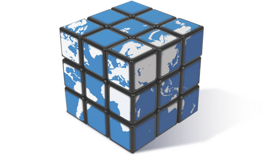 Rubik's cube of the world